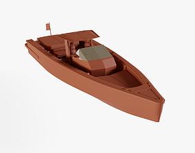 3D asset Center console boat