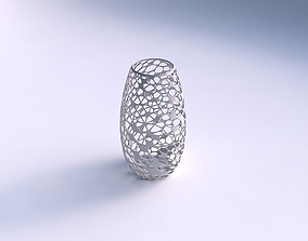 3D print model Spacious vase with twisted dense organic