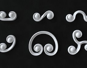 3D model Decorative Swirls or Scrolls Collection