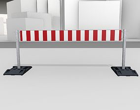 Construction Barrier Version 3 600-36 250x2400mm 3D asset