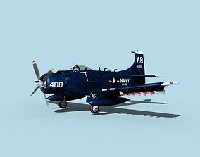 Douglas A-1H Skyraider V02 USN 3D