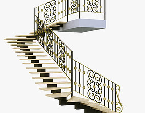 Staircase 3D model architecture model