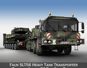 Faun STL-56 with 52 ton Semi-Trailer and a 3D model 1