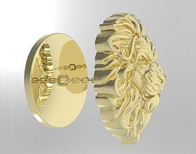 Lion Cufflinks 3D print model wild