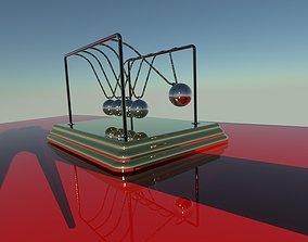 newtons craddle 3d rendered model