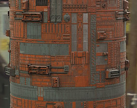 3D model Scifi Wall Panel Texture