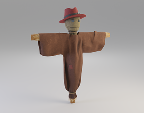 Scarecrow 3D asset game-ready