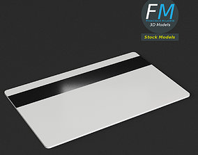 3D asset PBR Plastic card with magnetic strip