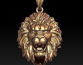 necklace lion pendant 3D printable model