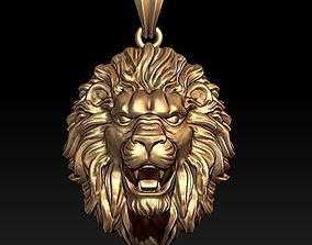 3D printable model zbrush lion pendant