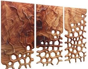 3D Decor wood panel 1 architectural