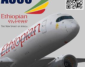3D model Airbus A350-900 XWB Ethiopian airlines