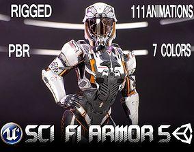Sci-Fi Armor 10 3D asset
