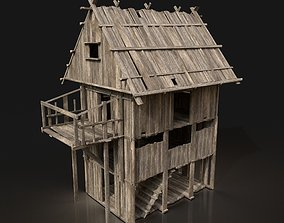 Next Gen AAA Wooden Settlement Scouttower 3D asset 1
