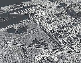 3D model Cityscape Miami Florida USA