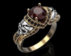 3D print model Skull Engagement Ring Many sizes