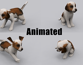 animated dog 3D asset