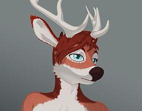 Deer Anthro 3D asset
