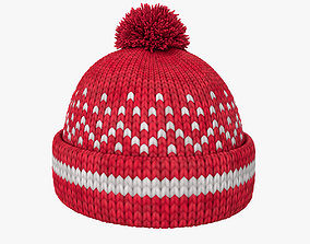 character Knitted winter hat 3D model