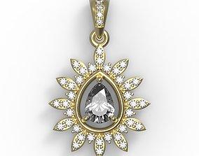 3D printable model Gemstone pendant