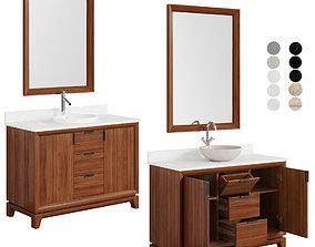 Talyn 48 Mahogany Vanity countertop sink 3D