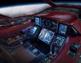 Scifi Light Fighter Cockpit 3D asset