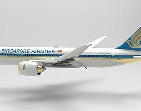 Airplane blue sky 3D model