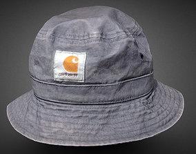 3D Bucket Hat Carhartt low-poly
