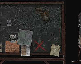 Police Chalkboard 3D asset