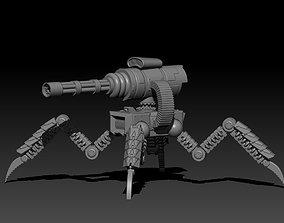 3D model Walking Sentry Turret
