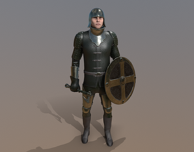 3D asset animated TAB Medieval Knight - 7A - Skin3