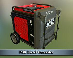 3D model PBR Diesel Generator
