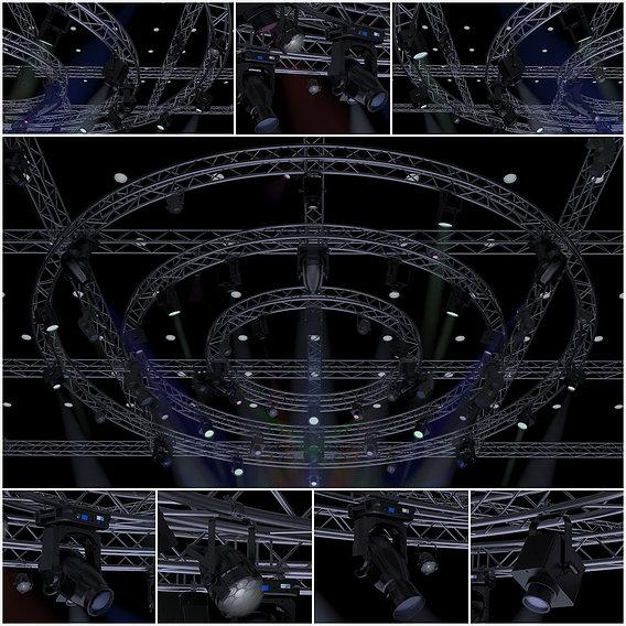 TV Studio Stage Truss and Lights