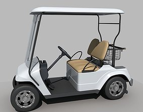 Golf cart model 3D club