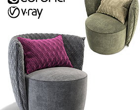 3D model Leaf Comfortable Armchair