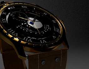 Modern Wristwatch 3D model