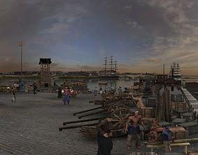 Ancient port 3D