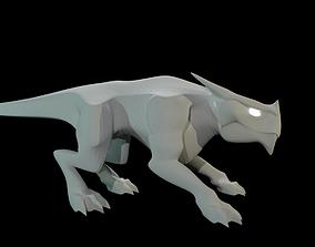 3D asset VR / AR ready Pit Dragon SMALL