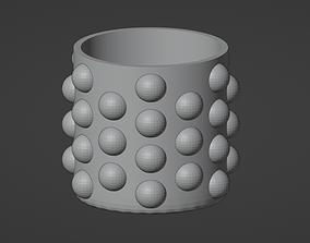 Spotted cap vase 3d printready model