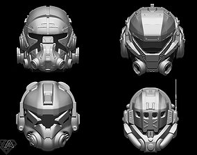TitanFall Pilot helmet set 3D print model