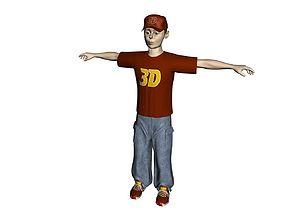 skateboarder 3D Model