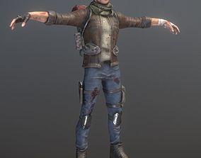 3D model Rigged Male Survivor
