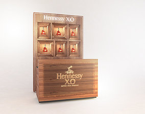 3D model Hennessy bar counter
