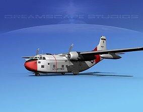 3D model Fairchild C-123B Provider USAF 4