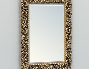 3D Rectangle mirror frame 001