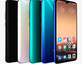 Xiaomi Redmi Note 8 Pro with 4 colors 3D