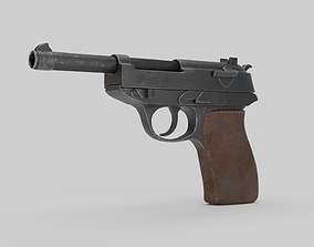 Game Ready Walther P38 Pistol 3D model game-ready