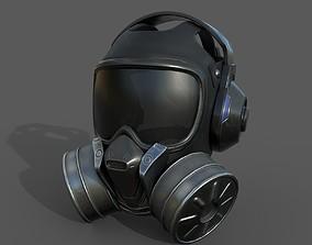 Gas mask helmet 3d model scifi VR / AR ready