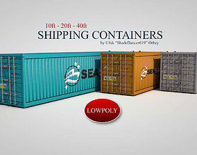 Shipping Containers 3D asset