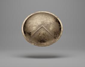 Spartan Shield - PBR - Low Poly 3D asset